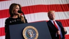 Donald Trump lavishes praise on his wife Melania
