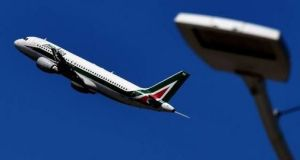 An Alitalia aircraft taking off. Etihad, the Abu Dhabi-based carrier, is a 49 per cent stakeholder in the airline but is not expected to invest further. Photograph: Getty Images