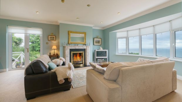 Cobblers Bank, Howth: all three reception rooms have sea views