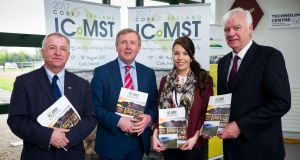Professor Gerry Boyle, director Teagasc; Minister for Agriculture, Food and the Marine Michael Creed; Ciara McDonnell and Declan Troy, Teagasc.