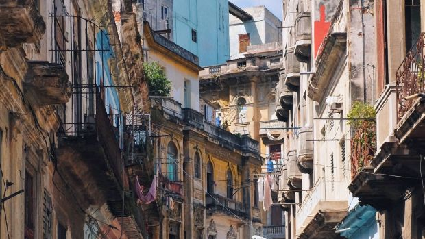 A street in Havana, Cuba. A huge state department of architects and planners is tasked with renovating the many near-derelict buildings. Photograph: Conor Horgan