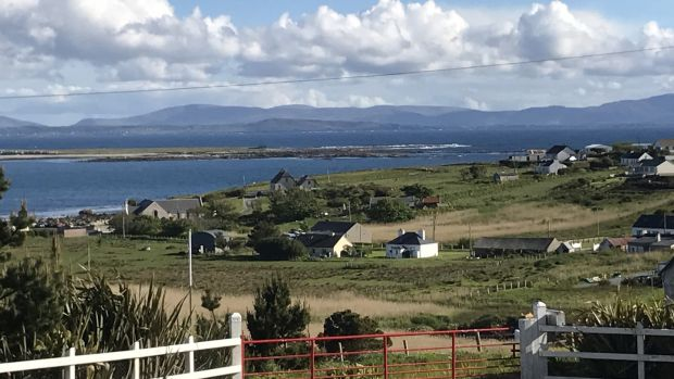 The view from the Walker's new home on Arranmore