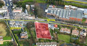 The site fronting Cabinteely village in Co Dublin previously had planning permission for two retail units and a nursing home, but permission has lapsed