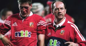 Ronan O'Gara leaves the field against the New South Wales Waratahs in 2001. Photograph: Getty Images