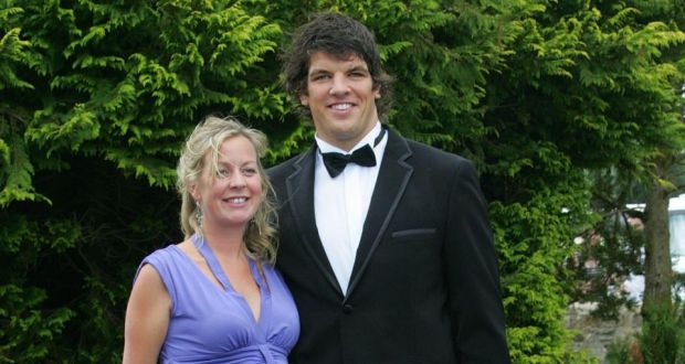 Donncha OCallaghan With His Wife Jenny Arriving At The Wedding Of Brian O