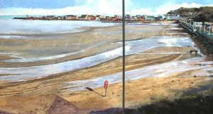 Two months on the coast oil on canvas, by Una Sealy