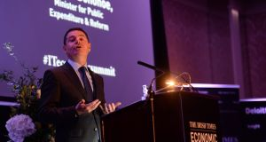 Minister for Public Expenditure Paschal Donohoe, TD at The Irish Times Economic Summit 2017 in association with Deloitte. Photograph: Dara Mac Dónaill