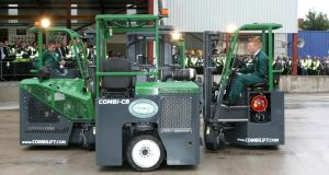 Combilift forklifts. Photograph: David Sleator