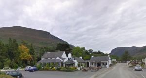 Fatal collision: the American tourist was cycling towards the entrance of Kate Kearney's Cottage, a pub and restaurant. Photograph: Google Street View