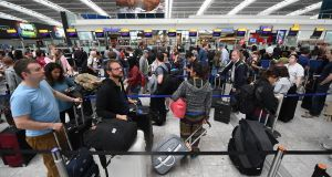 British Airways passengers  endured three day of delays following a IT meltdown. Photograph: Andy Rain/EPA