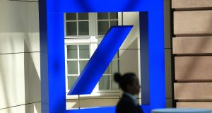 "A Deutsche Bank downgrade on the euro zone banking sector soured sentiment. Strategists at the German bank cut their rating on European banks to ""underweight"" and recommended investors lock in gains.  Photograph: Bloomberg"