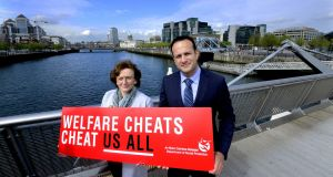 Welfare Cheats Cheat Us All: Leo Varadkar launches his advertising campaign in April. Photograph: Cyril Byrne