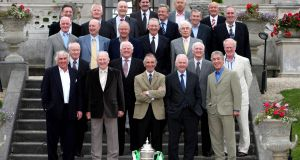 Members of the Shamrock Rovers squad of the 1960s at a commemoration lunch in 2007. Their US adventure is chronicled in 'Summer of '67: Flower Power, Race Riots, Vietnam and the Greatest Soccer Final Played on American Soil' by Ian Thomson. Photograph: Morgan Treacy/Inpho