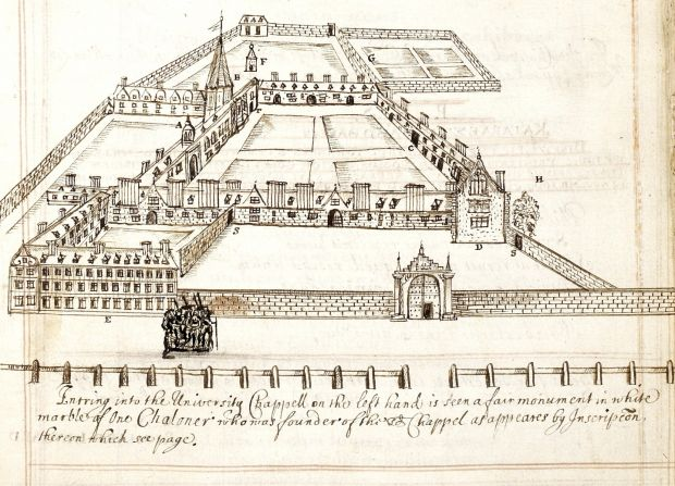 Trinity College Dublin in the 17th century. Photograph: NLI
