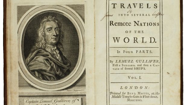 A first edition of Jonathan Swift's Gulliver's Travels, at Sotheby's auction