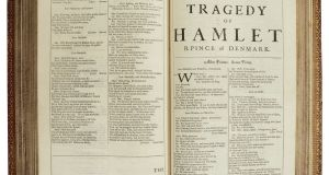Shakespeare's Hamlet from Jesuit Library sale at Sotheby's auction