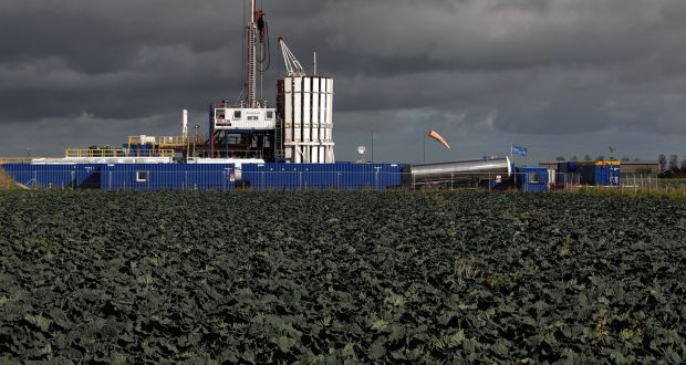 A fracking facility in Preston:  Ireland  will join four other EU member states – Scotland, France, Germany and Bulgaria – and regions of a number of countries in banning  fracking on land on land. Photograph: Matthew Lloyd/Getty Images