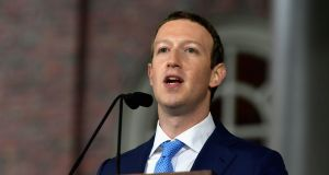 Facebook founder and CEO Mark Zuckerberg: under pressure over fake news. Photograph: Paul Marotta/Getty Images