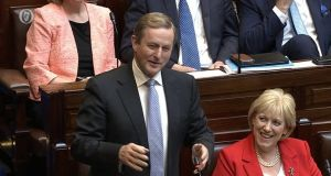 Screen grab of Taoiseach Enda Kenny during his final appearance at Leaders' Questions: Regrets? He's had a few. But then again, too few to mention.