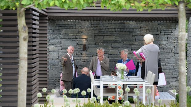 Judges at work at Bloom. Photograph: Dara Mac Dónaill / The Irish Times