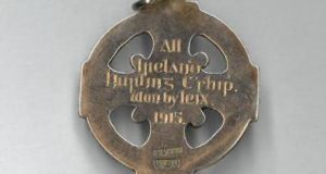 Fonsie Mealy book sale: Laois all-Ireland winners' medal from 1915, €11,000 (estimate €7,000-€10,000)