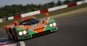 "Mazda's orange-and-green rotary-engined 787B. ""These cars were 800bhp, 230mph projectiles, they were fantastic to drive and unbelievable to see, hurtling down the Mulsanne at 230mph."""