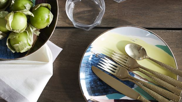 West Elm's abstract brushstroke salad plates