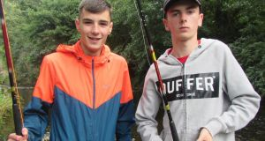 Nicky O'Hagan and Matthew McDonald of Whitechurch Youth Group.