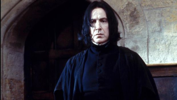 The disdainful Severus Snape played by Alan Rickman in 'Harry Potter and the Philosopher's Stone'. Photograph: Getty Images