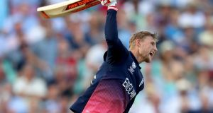 Joe Root scored a stunning 133* as England won their opening Champions Trophy fixture against Bangladesh. Photograph: Clive Rose/Getty