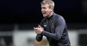 "Dundalk manager Stephen Kenny: ""We've been in good form recently, we've played well, and hopefully we can take that into the game against Cork City."" Photograph: Morgan Treacy/Inpho"