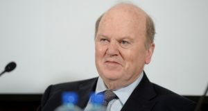 Minister for Finance Michael Noonan. The Department of Finance has been at a loss to explain the weaker-than-expected trend in income tax which is at odds with the  growth in employment. Photograph: Alan Betson