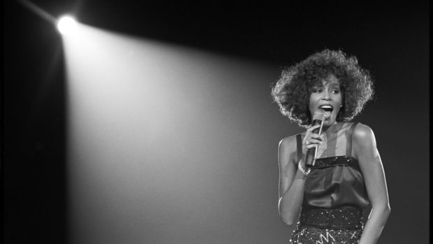 Whitney Houston performs on stage at the Wembley Arena, UK, in May 2005. Photograph: David Corio/Redferns