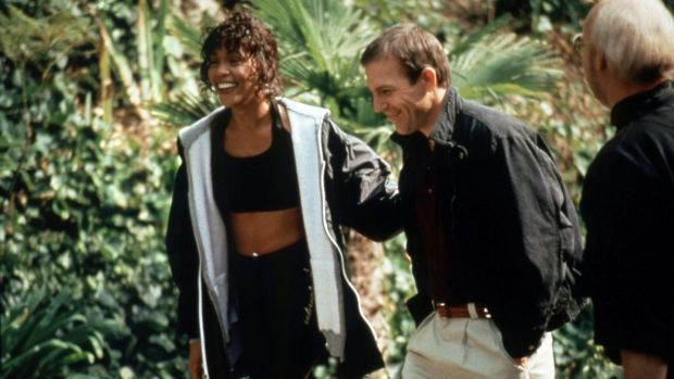 Whitney Houston and Kevin Costner on the set of The Bodyguard in 1992. Photograph: RDA/Getty Images