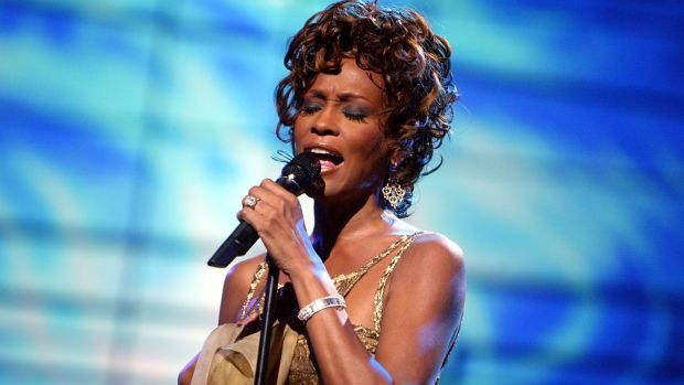 Whitney Houston performing on stage during the 2004 World Music Awards at the Thomas and Mack Centre on September 15th, 2004 in Las Vegas, Nevada. Photograph: Kevin Winter/Getty Images
