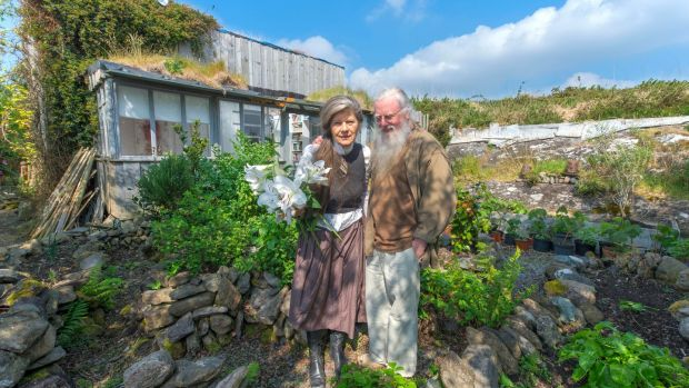 Jergan Janssen-Jerom and Felicitas Gross at their home in Adrigole, Castletownbere, Co Cork. Photograph: Michael Mac Sweeney/Provision