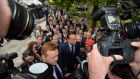 Ireland's next taoiseach:  Leo Varadkar arrives at the Fine Gael count on Friday. Photograph: Alan Betson