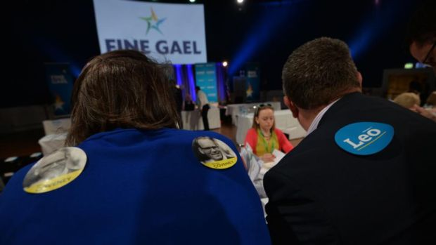 Leo Varadkar's victory: Fine Gael votes are counted at the Mansion House in Dublin. Photograph: Alan Betson