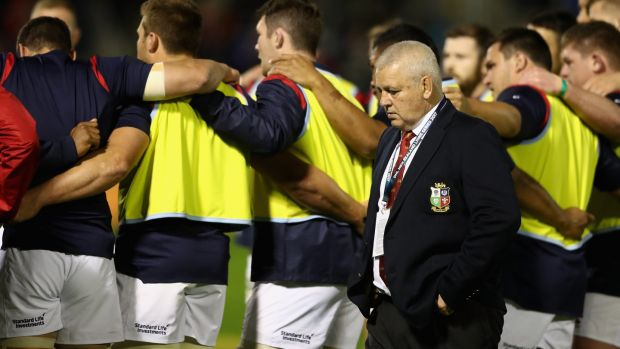 Lions head coach Warren Gatland ahead of his team's match against the New Zealand Provincial Barbarians at Toll Stadium. Photograph: David Rogers/Getty Images