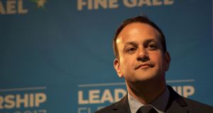 Leo Varadkar:   A gay taoiseach is actually a very big deal indeed, but Varadkar's politics are relatively rare among those who marched for his rights. Photograph: Paulo Nunes Dos Santos/AFP/Getty Images