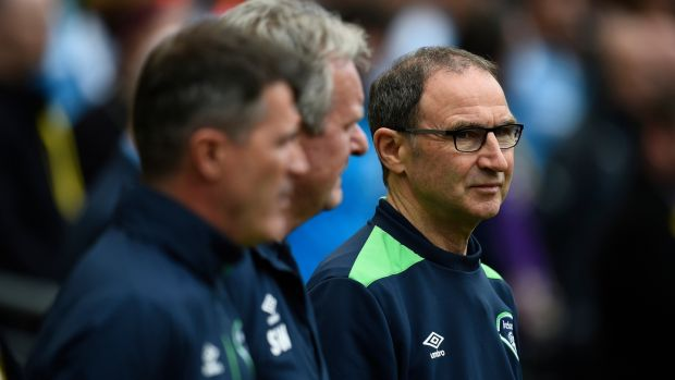 Martin O'Neill has a goalkeeping decision to make ahead of Ireland's key Austria qualifier. Photograph: Clodagh Kilcoyne/Reuters