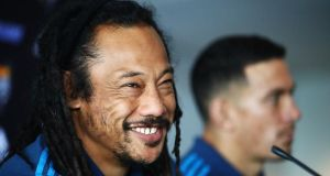 Tana Umaga's Blues take on the Lions at Eden Park on Wednesday. Photograph: Hannah Peters/Getty