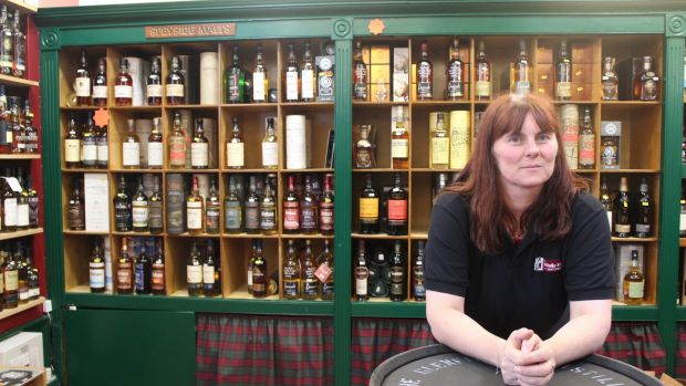Vicky Keough, manager of the Whisky Shop in Dufftown