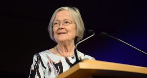 The Rt Hon the Baroness Brenda Hale of Richmond speaking  at the  World Congress on Family Law and Children's Rights  in Dublin. Photograph: Dara Mac Dónaill