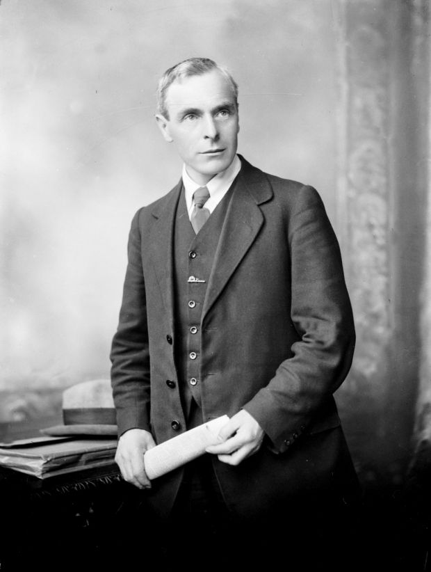 Labour party leader Tom Johnson: came within one vote in 1927 of becoming President of the Executive Council (the then equivalent of Taoiseach)