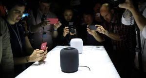 HomePod users may initially be constrained by Siri's lack of capabilities as compared to Alexa. Photograph: Jim Wilson/The New York Times