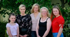 Lisa Kennedy, whose brother Alan was stabbed to death in 2007, and  four of her five daughters: Emilia; Kate; Elizabeth and Milly. Photograph: Nick Bradshaw