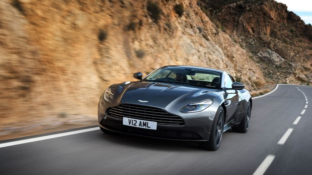 Aston Martin DB11: its big V12 engine is now twin-turbocharged and develops a whopping 600hp