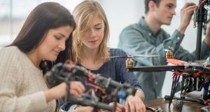 SFI's Prof Mark Ferguson says there remain obstacles to encouraging young people to choose Stem careers, and that concern about fitting into a college course tops this list. Photograph: iStockphoto/Getty Images