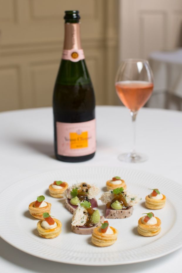 Food and Champagne pairings at Residence, St Stephen's Green, Dublin. Photograph: Kenneth O'Halloran